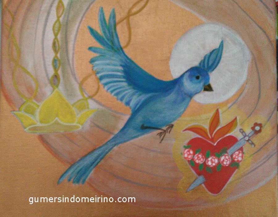 Pintura y foto Xochtil Arias
